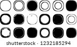 grunge post stamps collection ... | Shutterstock .eps vector #1232185294
