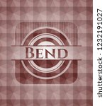 bend red emblem with geometric...   Shutterstock .eps vector #1232191027