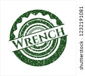 green wrench distressed rubber... | Shutterstock .eps vector #1232191081