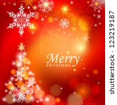 abstract christmas background.... | Shutterstock .eps vector #123219187
