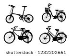 silhouette set off vintage bike ... | Shutterstock . vector #1232202661