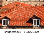 View of Jerusalem red tile roofs - stock photo