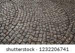 old stone pavement closeup... | Shutterstock . vector #1232206741