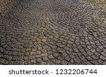 old stone pavement closeup... | Shutterstock . vector #1232206744