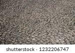 old stone pavement closeup... | Shutterstock . vector #1232206747