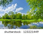 Spring Landscape With Narew...