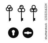 keyhole icons. vintage keys... | Shutterstock .eps vector #1232216224