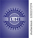 tune badge with jean texture | Shutterstock .eps vector #1232217274