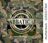 sabbatical written on a camo... | Shutterstock .eps vector #1232217364