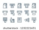 terminal related line icon set. ...