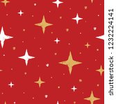holiday seamless pattern with... | Shutterstock .eps vector #1232224141