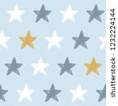 cute baby seamless pattern with ... | Shutterstock .eps vector #1232224144