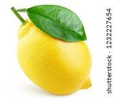 ripe whole yellow lemon citrus... | Shutterstock . vector #1232227654