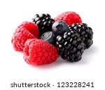 Heap of ripe berry - stock photo