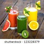healthy fruit smoothie | Shutterstock . vector #123228379