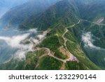 aerial view of khau pha pass... | Shutterstock . vector #1232290144