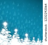 2d illustration. snowflake... | Shutterstock . vector #1232292064