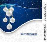 beautiful merry christmas card... | Shutterstock .eps vector #1232292577