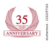 35 years design template. 35th... | Shutterstock .eps vector #1232297101