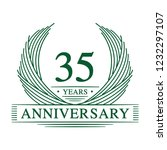 35 years design template. 35th... | Shutterstock .eps vector #1232297107