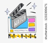 vlog video blog social media... | Shutterstock .eps vector #1232300671
