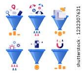 funnel generation sales.... | Shutterstock .eps vector #1232307631