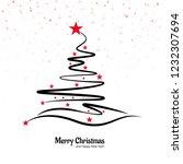 beautiful merry christmas... | Shutterstock .eps vector #1232307694