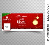 merry christmas sale with... | Shutterstock .eps vector #1232307724