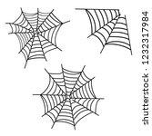 spiderweb . spooky corner...   Shutterstock . vector #1232317984