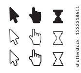 arrow web cursors. arrow cursor ... | Shutterstock . vector #1232318611