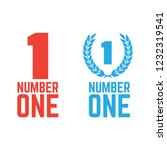 number one retro labels. set of ... | Shutterstock .eps vector #1232319541