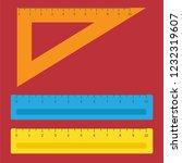 school instruments  rulers... | Shutterstock .eps vector #1232319607