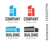 real estate logo set. abstract... | Shutterstock .eps vector #1232319754