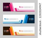 banner background. modern... | Shutterstock .eps vector #1232324947