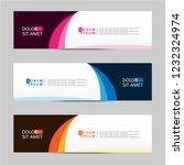 banner background. modern... | Shutterstock .eps vector #1232324974