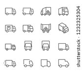 truck  icon set. lorry  linear...   Shutterstock .eps vector #1232325304