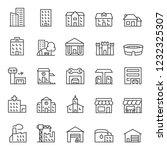 buildings  icon set. various... | Shutterstock .eps vector #1232325307