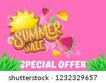 vector sammer sale horizontal... | Shutterstock .eps vector #1232329657