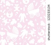 Stock photo seamless pink baby background for baby shower 123233134