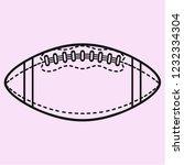 american football ball vector... | Shutterstock .eps vector #1232334304
