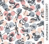 seamless pattern with...   Shutterstock .eps vector #1232338597