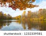 Fall Foliage Over Lily Lake At...