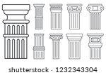 ancient column icon set.... | Shutterstock .eps vector #1232343304