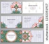 set of six horizontal business... | Shutterstock .eps vector #1232351917