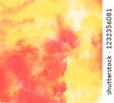 orange yellow watercolor... | Shutterstock .eps vector #1232356081