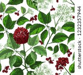 realistic botanical ink sketch... | Shutterstock .eps vector #1232357944