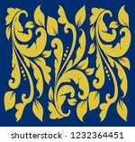 gold leaf ornaments | Shutterstock .eps vector #1232364451