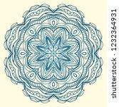 vector round abstract mandala... | Shutterstock .eps vector #1232364931