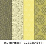 set of floral pattern. seamless ... | Shutterstock .eps vector #1232364964