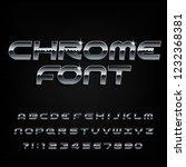 chrome alphabet font. beveled... | Shutterstock .eps vector #1232368381